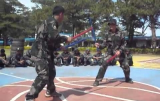 Philippine Police training in Kali Eskrima Arnis