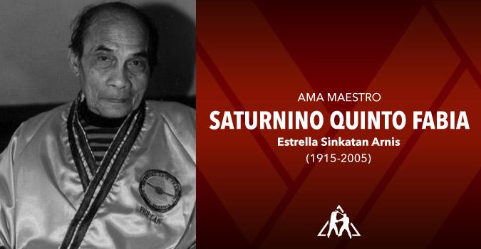 Ama Maestro Saturnino Quinto Fabia (1915-2005)